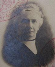 Eleonora Landsberg, żona Abrama Lejba vel Aleksandra Landsberga. Zbiory Mariana Fronczkowskiego.