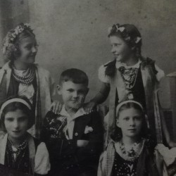 Równe. 1930's. Photographs taken after the celebration of the Holy Communion  of Józef Harasimowicz, father of Mirosława Harasimowicz