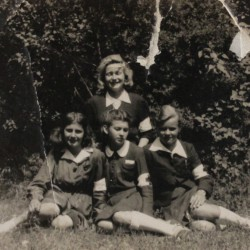 Wiesława is the first from the right. Wiesława Dębiec Collection