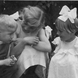 Barbara D. with her cousins. 1961