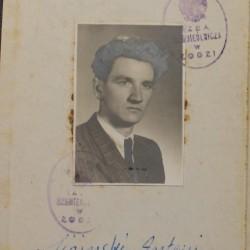 Fragment dyplomu mistrzowskiego Antoniego Sipińskiego. Rok 1954.