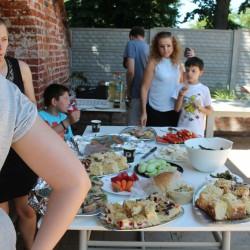 na piknik warzywa z ogrodu